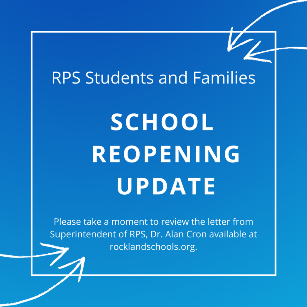 School Reopening Update from Dr. Alan Cron