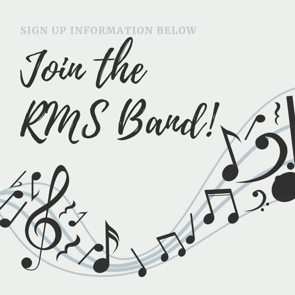 2021-2022 RMS Band Sign Ups
