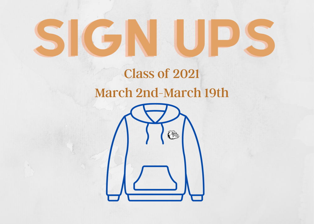 Class of 2021: Sign Up for your Senior Athlete Sweatshirt!