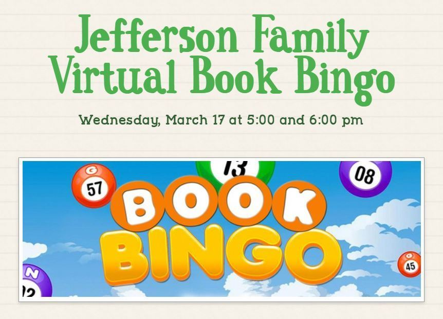 Jefferson Family Virtual Book Bingo