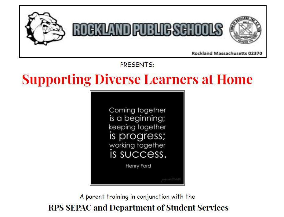 Supporting Diverse Learners at Home