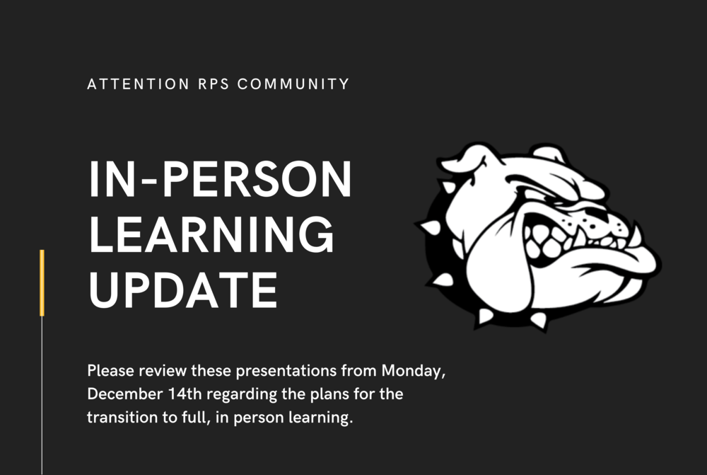 Planning for the Transition to In-Person Learning