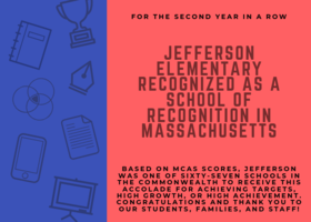 Jefferson is a school of recognition!