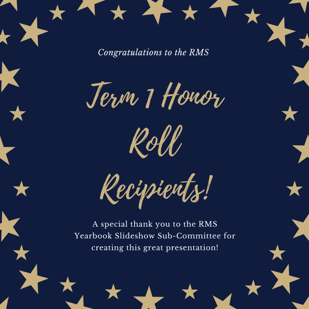 RMS Honor Roll Term 1