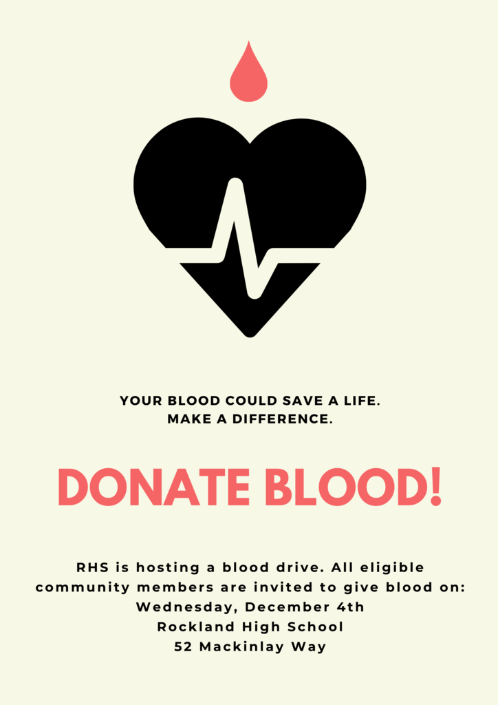 Blood Drive at RHS: Wednesday, December 4!